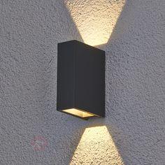 Led-buitenwandlamp Maisie van aluminium 9616042