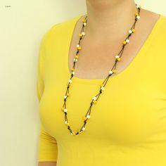 DIY helpon solmukorun ohje. Lähde: unelmallinenelama.blogspot.com Diy Crafts For School, Diy And Crafts, Diy Fashion, Easy Diy, Beaded Necklace, Chain, Gifts, Jewelry, Aide
