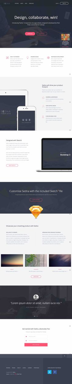 http://tympanus.net/Freebies/Sedna/ http://tympanus.net/codrops/2015/08/11/freebie-sedna-one-page-website-template/