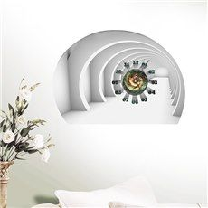 Amazing 4-Dimensional Space 3D Sticker Wall Clock