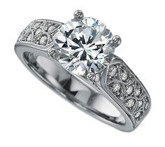 Lattice Millgrain Engagement Ring - ES901BRWG