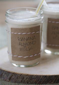 Vegan Spiced Almond Banana Milk