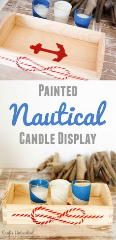 DIY Nautical Candle Display - Crafts Unleashed