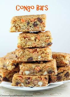Loaded Congo Cookie Bars (these are great for using all those baking odds & ends you have hanging out in your pantry)