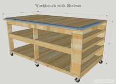 Mira este interesante tutorial para crear un mueble tipo banco de trabajo – Manos a la Obra