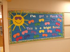 Back to school bulletin board.  Could go with my summer theme!!