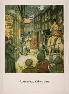 Kalverstraat, Amsterdam By Anton Pieck John Bauer, Anton Pieck, Kay Nielsen, Hand Drawings, Edmund Dulac, Fairy Tree, Woodland Fairy, Dutch Painters, Dutch Artists