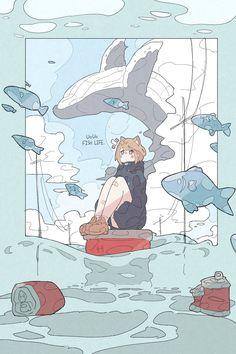 Kawaii Anime Girl, Anime Art Girl, Pretty Art, Cute Art, Japanese Pop Art, Anime Character Drawing, Gothic Anime, Illustrations And Posters, Cartoon Styles