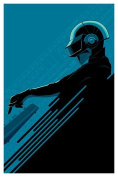 """xombiedirge: Daft Roots (Blue & Red) by Craig Drake / Facebook 24"""" X 36"""" screen prints. Red was released and quickly sold out during the Daft Punk tribute art show, ReDiscovery back in May 2013. However, Blue will be available at the one night only art event happening tonight at LA's THE WELL venue. Remaining prints will be released online Friday 28th June via Gauntlet Gallery."""