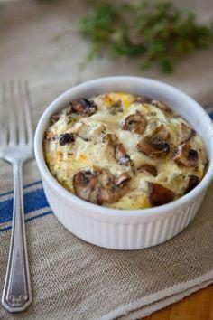 Put your ramekins to good use with this Mixed Mushroom Egg Bake recipe.