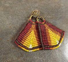 Autumn Ombre Macrame Earrings by neferknots on Etsy, $40.00