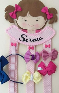 Baby Sewing Projects, Sewing For Kids, Diy For Kids, Sewing Crafts, Kids Crafts, Felt Crafts, Diy And Crafts, Felt Hair Accessories, Organizing Hair Accessories