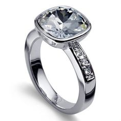 """Stunning Ring made of rhodium plated metal. The Star of the Ring is a sparking Swarovski Crystal that measures a little less then .5"""" by .5"""""""