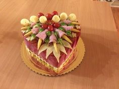 Salad Cake, Food Decoration, Catering, Buffet, Cakes, Desserts, Antipasto, Meal, Noel