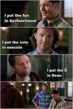 I'm laughing too hard. how on earth did I start shipping Destiel?! #ithappenedonitsown #nocontrol