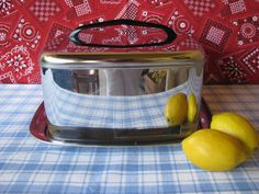 Vintage Cake Carrier Lincoln BeautyWare Chrome by LucyBettyNJune, $18.00