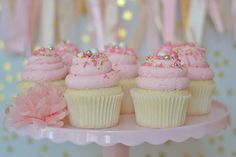 Pink Champagne Cupcakes - HELLO, SILLYHEART