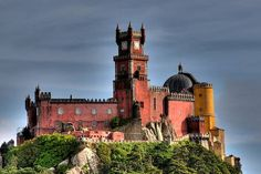 Palacio de Pena in Sintra, Portugal. Also known as the pink palace due to parts of its exterior.