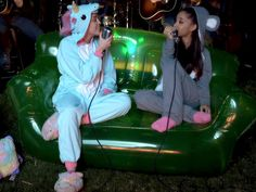Miley Cyrus' 9 Most Shocking On-stage Moments | THAT TIME SHE PERFORMED IN ONESIES WITH ARIANA GRANDE | We support Cyrus's love of adult onesies – and this surprisingly sweet performance.