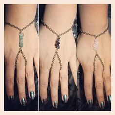 LOVE BOHO STYLE - Gemstone hand chain