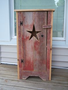 I LOVE THIS! Primitive Star Cabinet