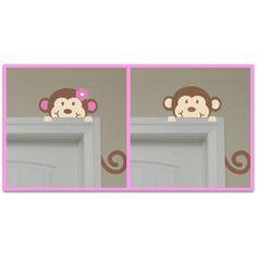 Boy or Girl Monkey Wall Art mrsmckenziesmonograms.com
