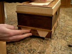Handmade puzzle box, what an awesome boyfriend. (the puzzle box. Wooden Puzzle Box, Wooden Puzzles, Wooden Toys, Woodworking Plans, Woodworking Projects, Secret Box, Wooden Projects, Wood Boxes, Box Design