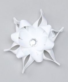 Take a look at this White Star Snowflake Clip on zulily today!