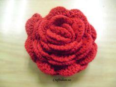 Ganchillo flor tutorial - ❥Teresa Restegui http://www.pinterest.com/teretegui/❥
