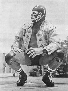 Vintage wrestler - wrestling mask - lucha libre