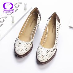 2017 Summer Style Hollow Out Sandals Soft Leather Women Shoes Pointed Toe High Heel Sweet Woman Pumps Plus Size Retro Shoes Cheap Sandals, Women's Shoes Sandals, Retro Shoes, Dream Shoes, Brown Shoe, Types Of Shoes, Women's Pumps, Fashion Shoes, High Heels