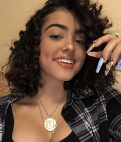 Haven't we all been scandalized at the thought of black nail polish at some time in our lives or other? Gray Nails, Black Nails, Malu Trevejo Outfits, Grey Nail Designs, Black Nail Polish, Baddie Hairstyles, Classy Nails, Best Black, Dimples