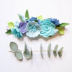 Blue Bell mini flower crown neutral colours/ by kireihandmade