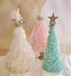 Trees - Crepe, Tulle and Ribbon!  <3 <3 <3