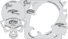 Pack'O'Skullz Artool Stencils by Scott MacKay - FHPKOS2