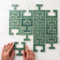 ed609970ac Fireclay tile Chaine Femme in Sea Foam. Bathroom Wall Tiles