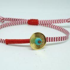 Μαρτάκι με κοίλο στοιχείο και χαολίτη Masai Jewelry, Jewelry Art, Jewlery, Friendship Bracelets, Macrame, Beading, March, Diy Crafts, Crochet