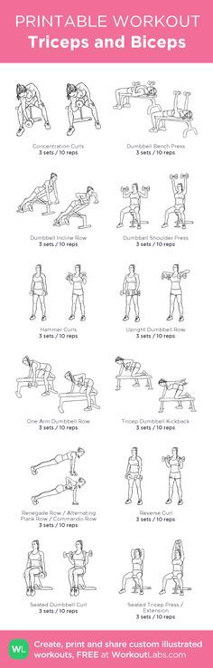 Triceps and Biceps : my custom printable workout by @WorkoutLabs #workoutlabs #customworkout