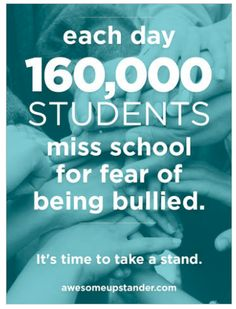 The people who give bullies power, are those that stand by and let #bullying happen. #bethechange