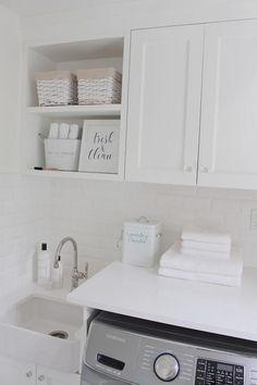 Laundry room farmhouse sink laundry-room-farmhouse-sink. JShomedesign via…
