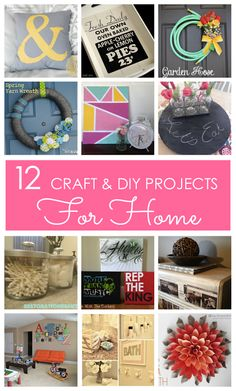 12 Stylish Craft & DIY Projects for Home! Browse these easy to make tutorials for wall art, wreaths, pillows, decor, and more! www.lovegrowswild.com #craft #diy #home decor