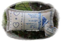 Geldgeschenk+Silberhochzeit+mit+Namen+-+Kissen+Set+von+Antjes+Design+auf+DaWanda.com