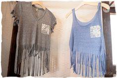DIY: bottom fringe t-shirt.