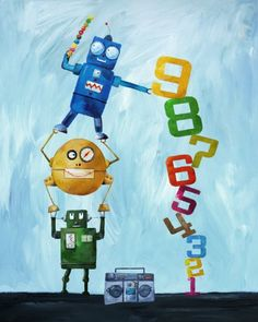 $25  (only 8x10 print) Cici Art Factory Wall Art, Robots Love Numbers, Small Cici Art Factory http://www.amazon.com/dp/B00BNDK8V4/ref=cm_sw_r_pi_dp_Be9Hub0S6ZTCR