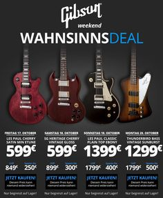 Great GIBSON Deals to be found here but only THIS weekend !