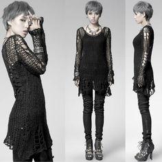 Goth Gothic Punk Rock Emo Sweaters Jackets Coats Hoodies SKU-11411039