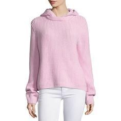 Michael Kors Long-Sleeve Shaker Hoodie (32.925 RUB) ❤ liked on Polyvore featuring tops, hoodies, oleander melange, long sleeve tops, pink top, pink hoodie, long sleeve pullover and sweatshirt hoodies
