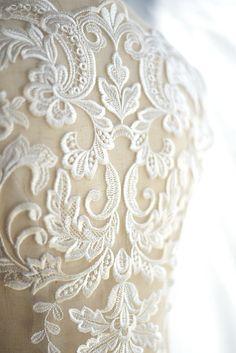 Gorgeous ivory bridal lace applique wedding gown applique