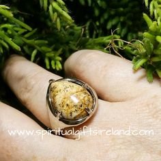 Earth Jasper Adjustable Ring