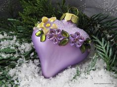 Beaded Christmas Ornaments, Handmade Christmas, Christmas Crafts, Xmas, Christmas Trees, All Things Christmas, Christmas Colors, Lilac, Purple